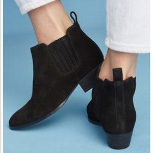Seychelles black suede bootie size 6 NWOT